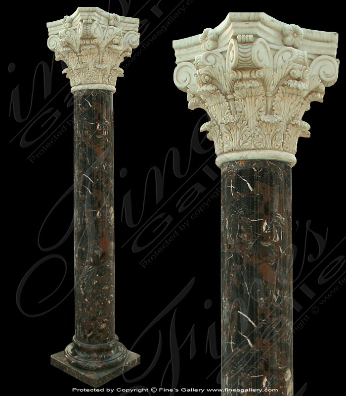 Round Contrast Marble Column