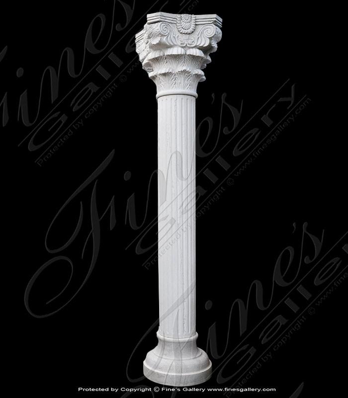 Corinthian White Marble Column