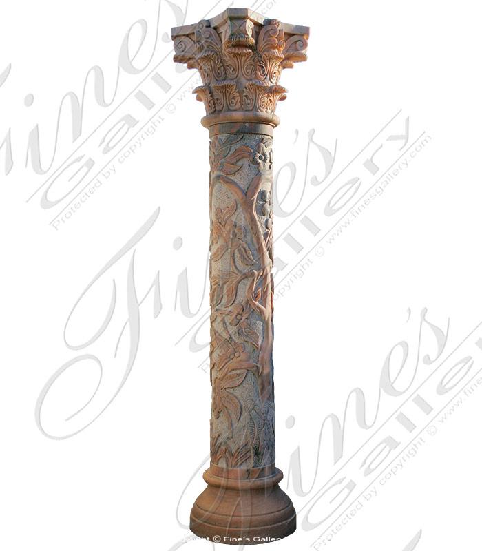 Floral Vine Column