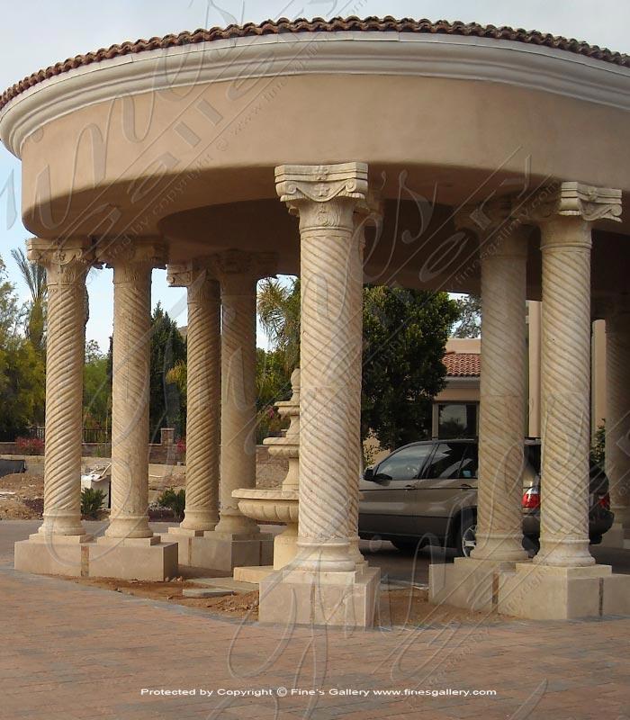 Ornate Spiral Marble Column