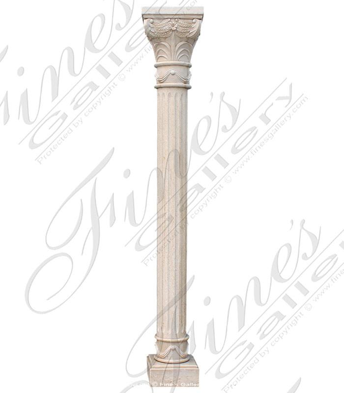 Cream Marble Column