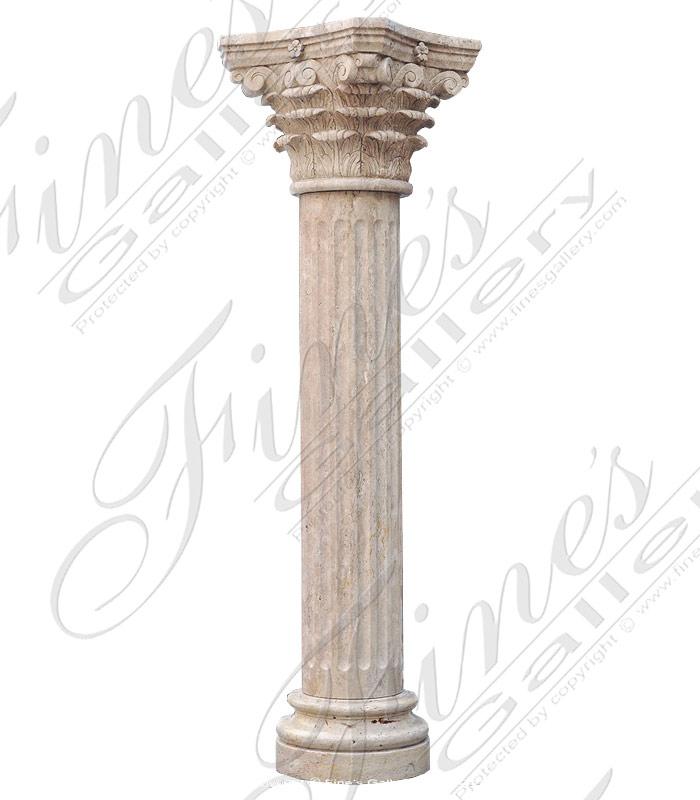 Beige Marble Column