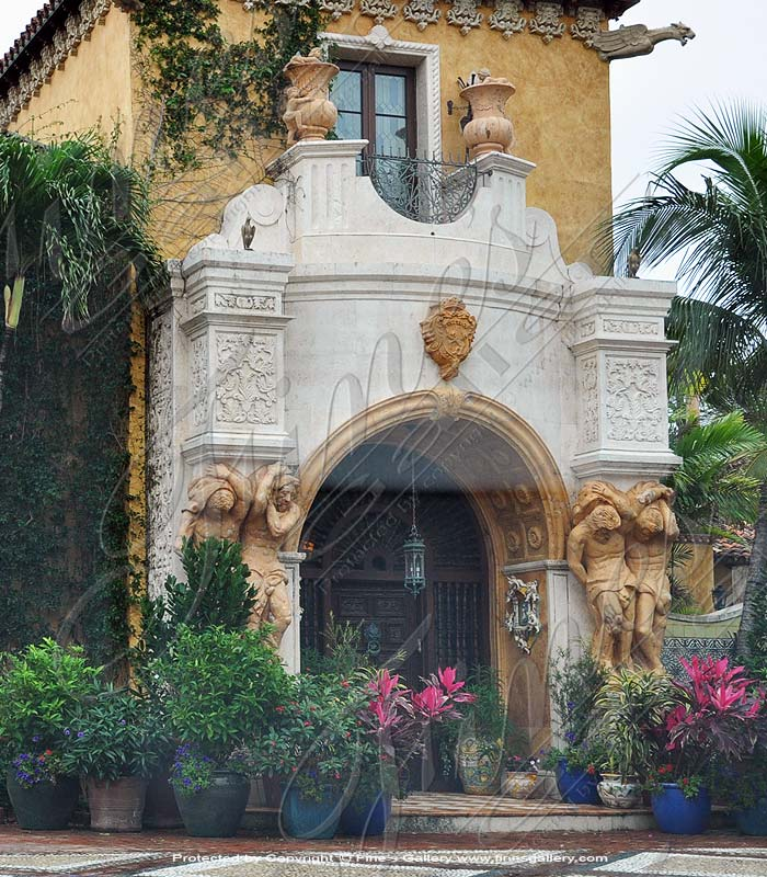 Italian Villa Marble Entry