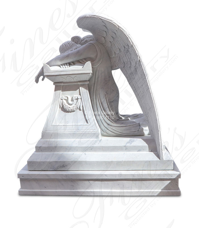 Marble Weeping Angel Memorial