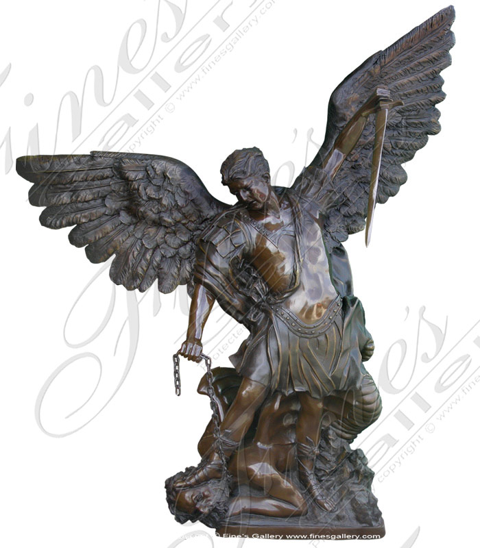 Bronze Saint Michael Memorial