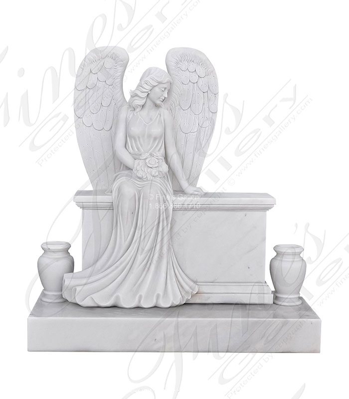 Beloved Angel Marble Monument