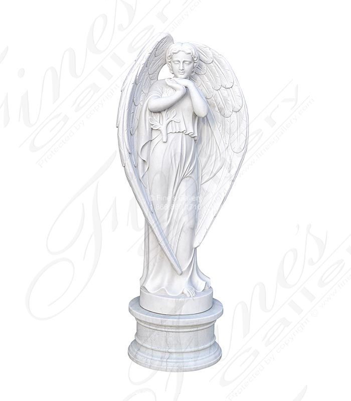 Heart Shape Winged Marble Angel