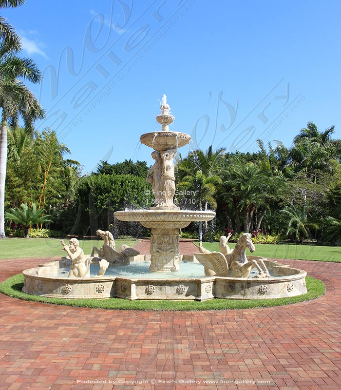 Port Royal FL Monumental Marble Fountain