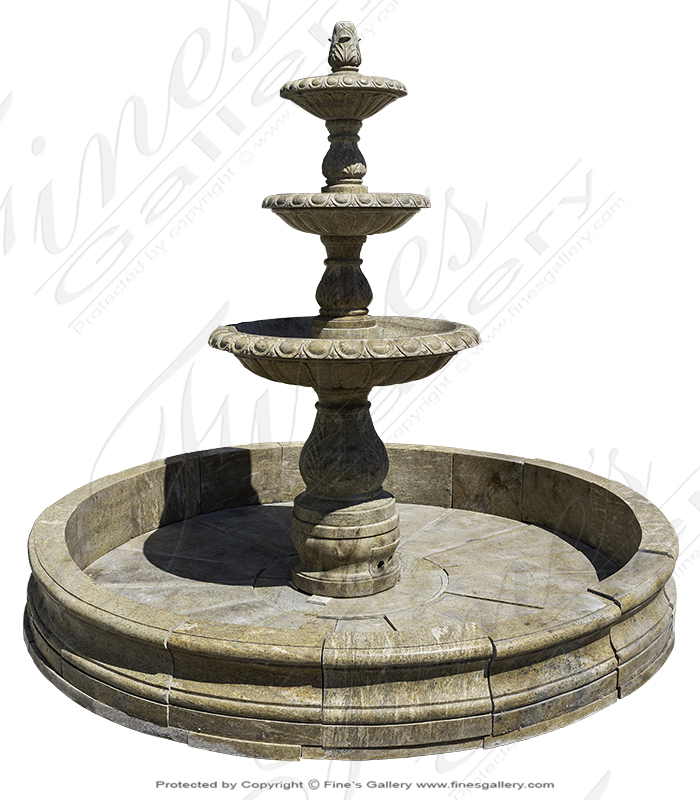 Tiered Granite Motor Court Fountains