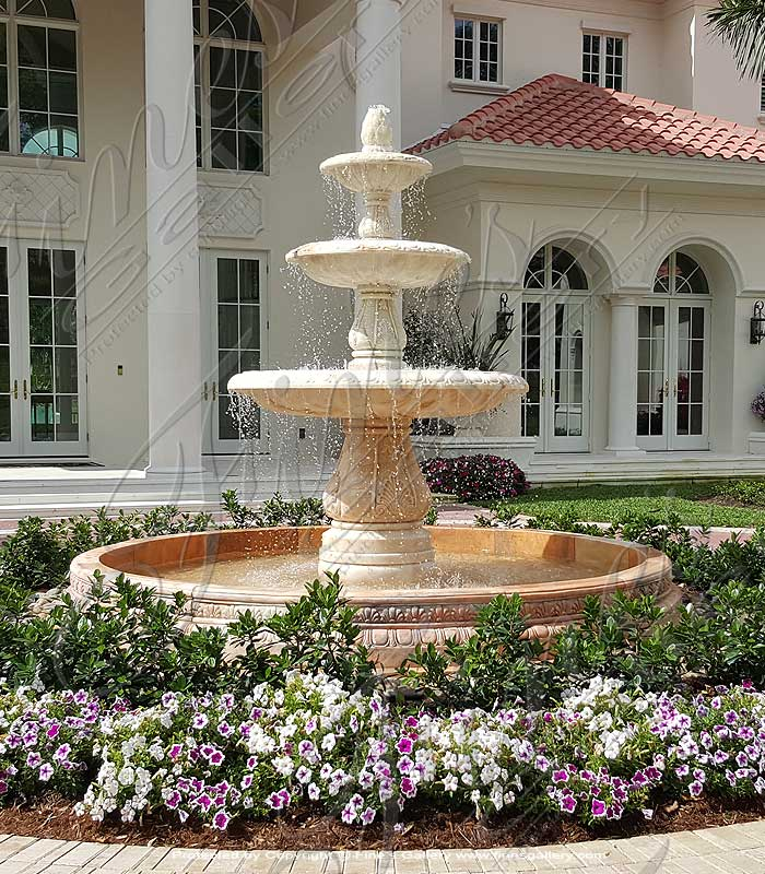 Pink Marble Fountain
