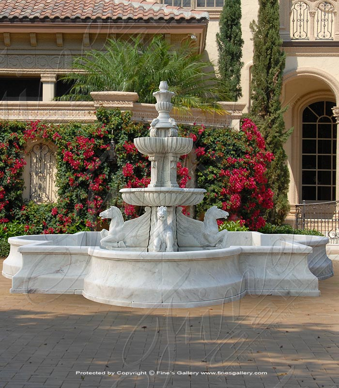 French Chateau Marble Fountain