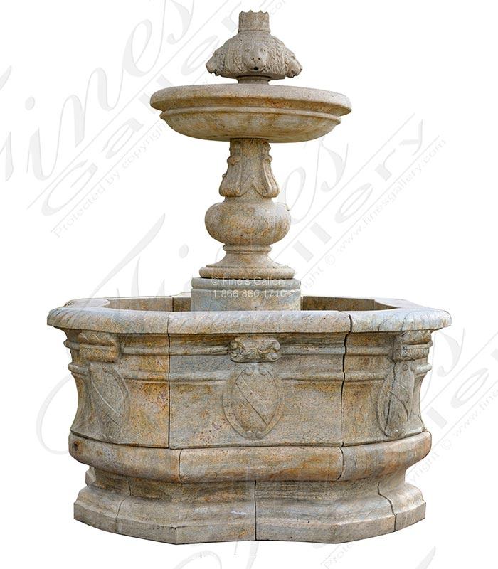 Granite Lion Head Fountain