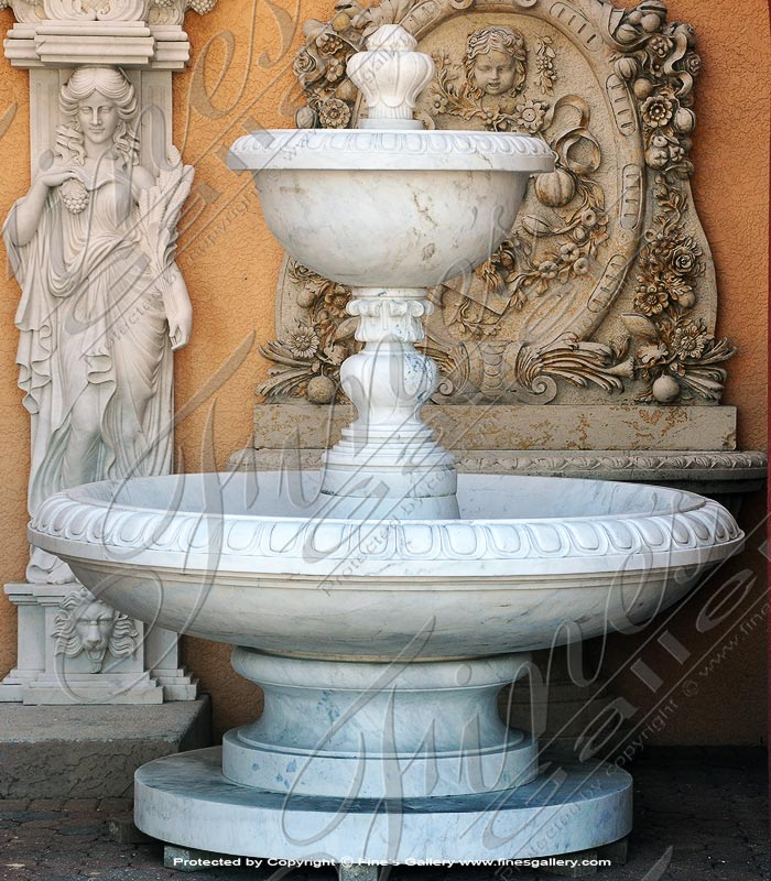 Statuary White Marble Fountain