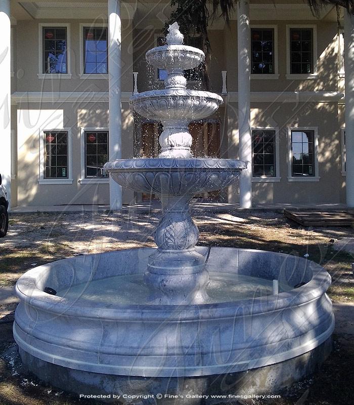 Roman Gardens Marble Fountain