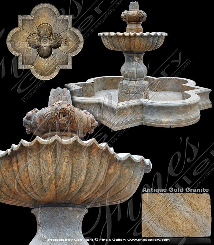Majestic Granite Fountain