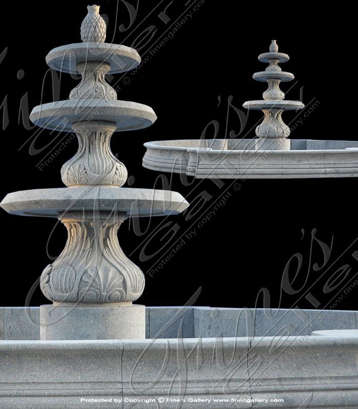Gray Granite Fountain