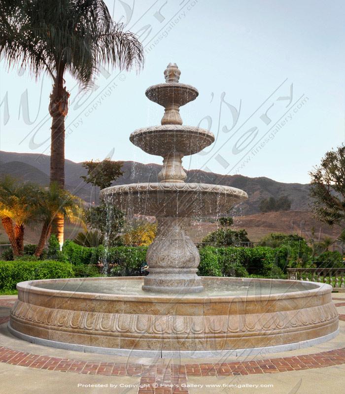 Golden Granite Fountain