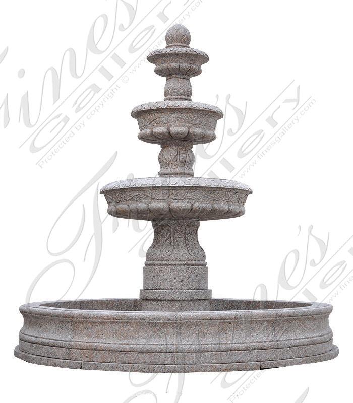 Rojo Granite Fountain