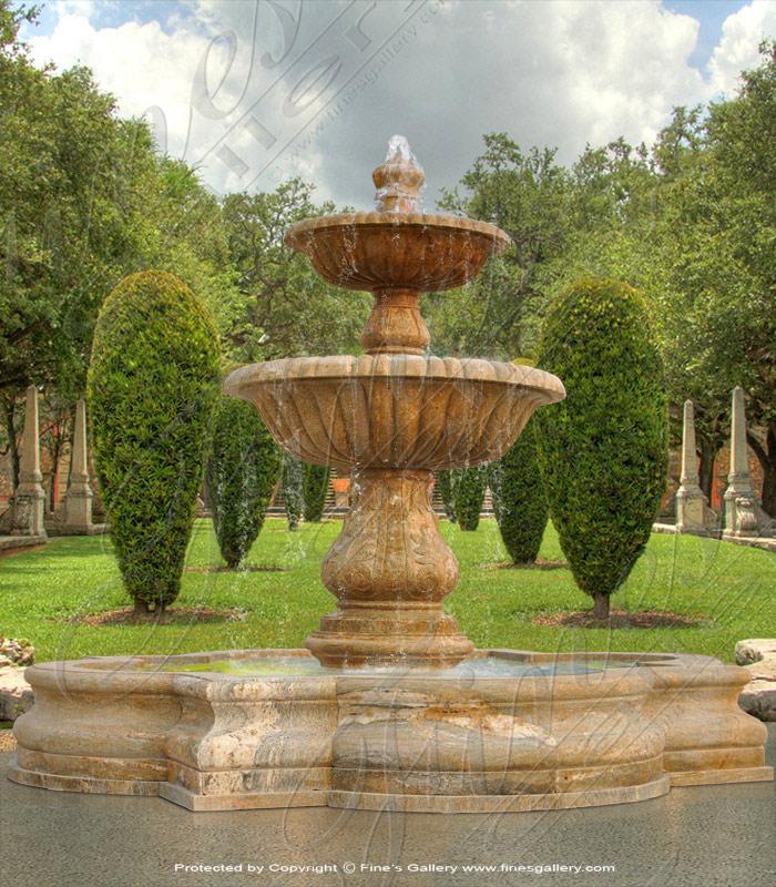 Elegant Granite Fountain