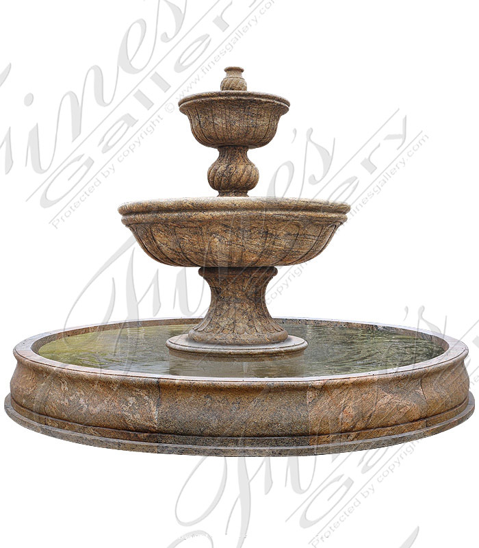 Two Tiered Granite fountain
