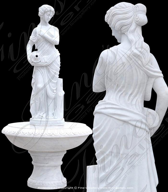 White Marble Female Fountain