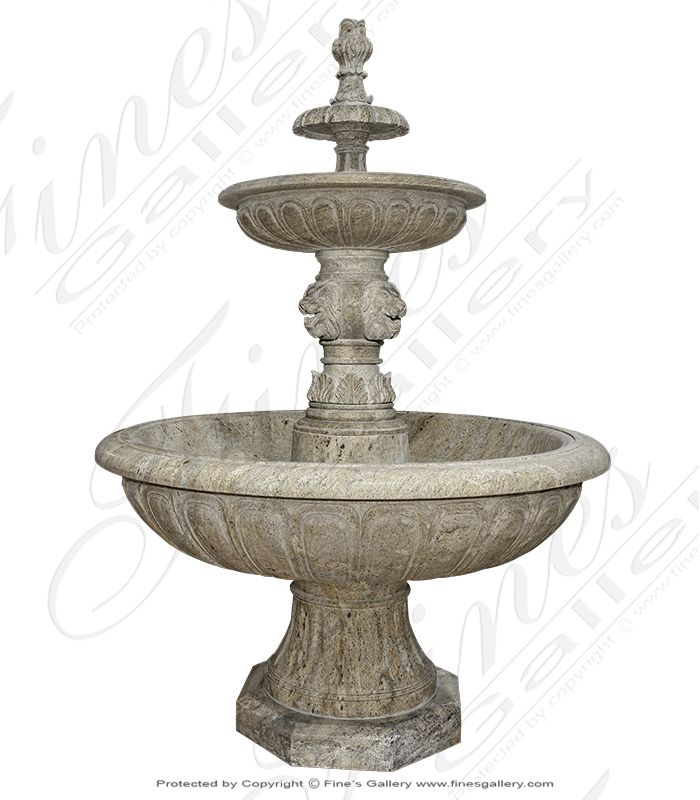 Antique Gold Granite Garden Fountain