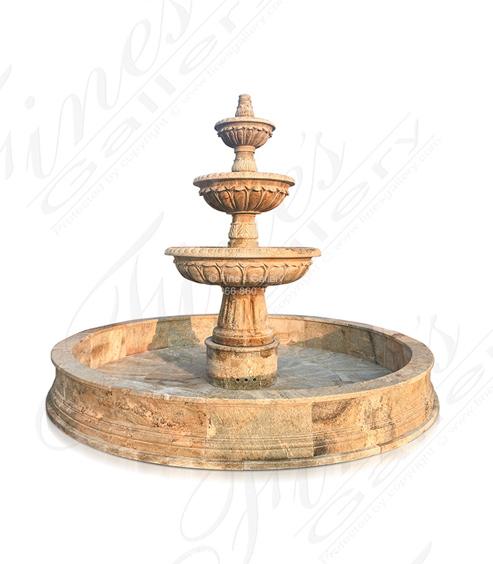 Extra Large Outdoor Granite Fountain
