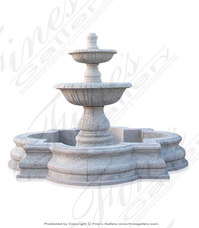Exotic White Granite Fountain