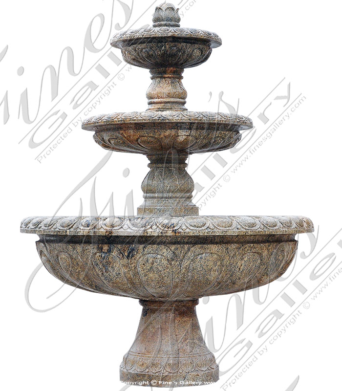 Traditional Three Tiered Fountain in Granite