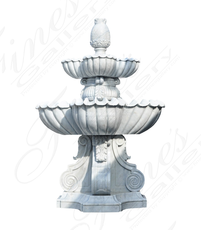 Luxurious White Marble Fountain