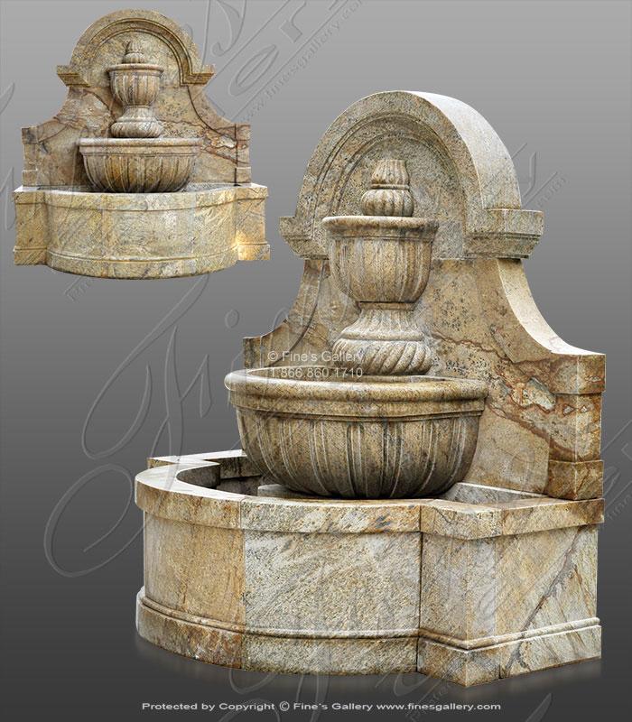 Rustic European Granite Wall Fountain