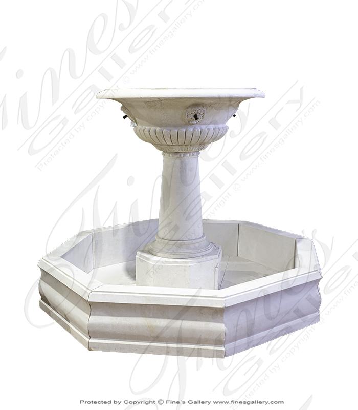 Classic Cream Limestone Fountain Feature