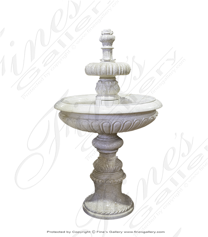 Cream Marble Fountain