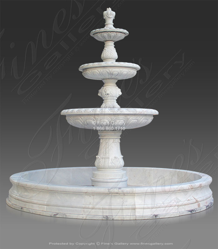 Grand Tiered Marble Fountain