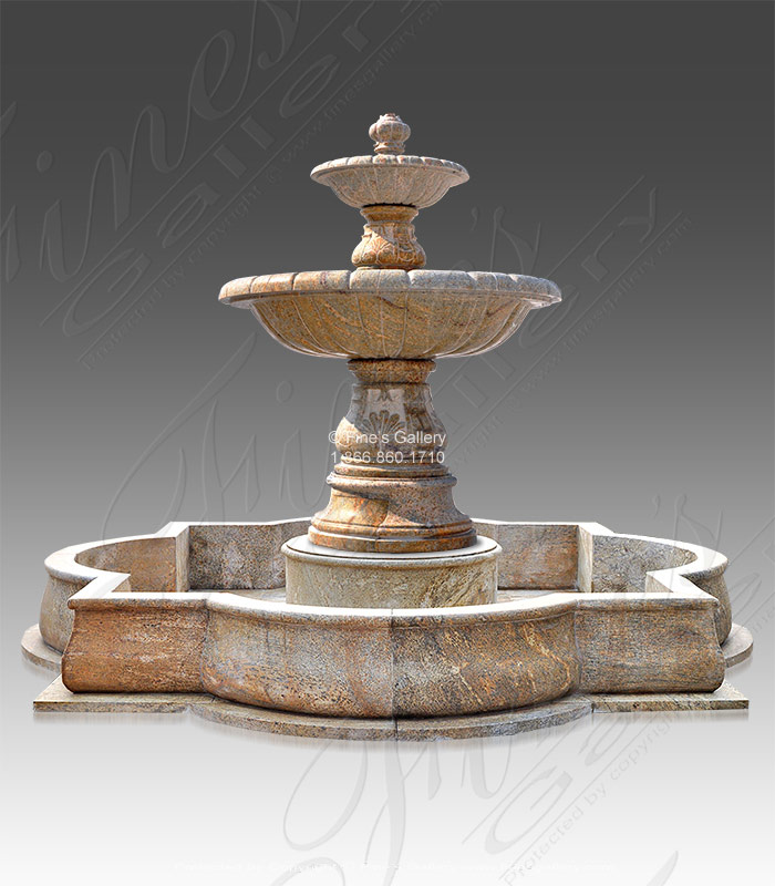 Two Tiered Granite Fountain Feature