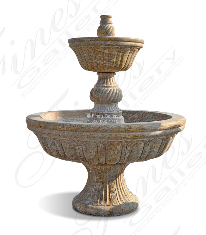 Solid Granite Garden Fountain Self Contained