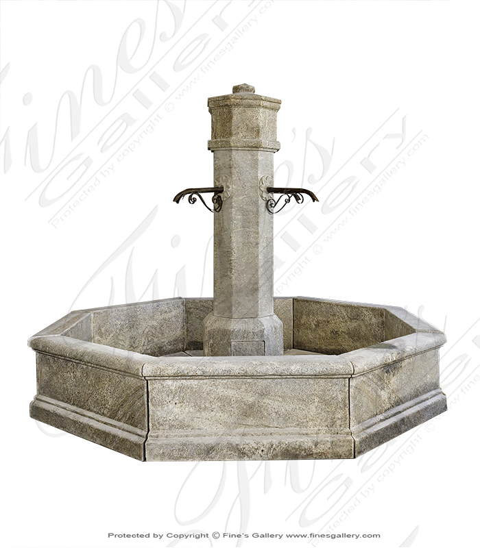 Solid Granite French Country Style Fountain