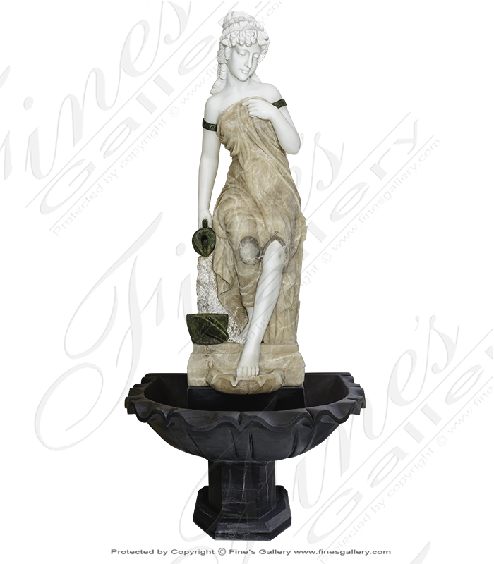 Victorian Lady Marble Fountain