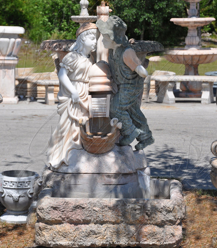Romance at the Well Marble Fountain