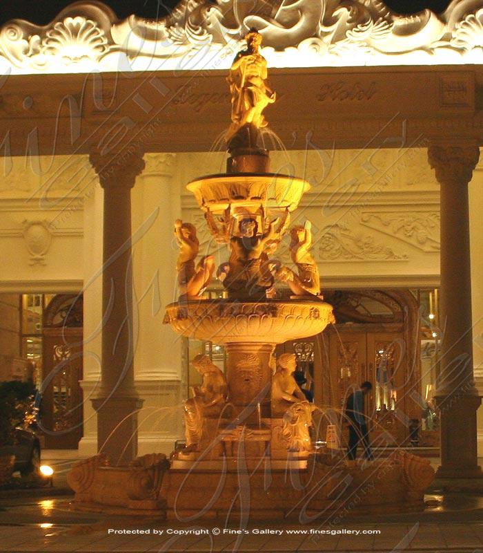 Greco Roman Marble Fountain