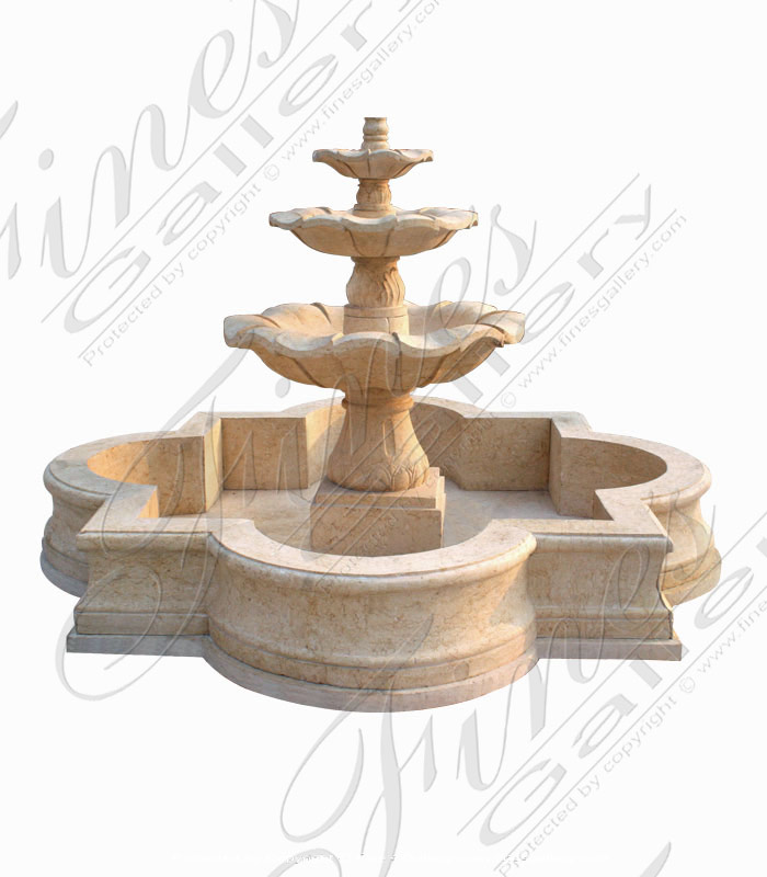 Three Tiered Marble Fountain