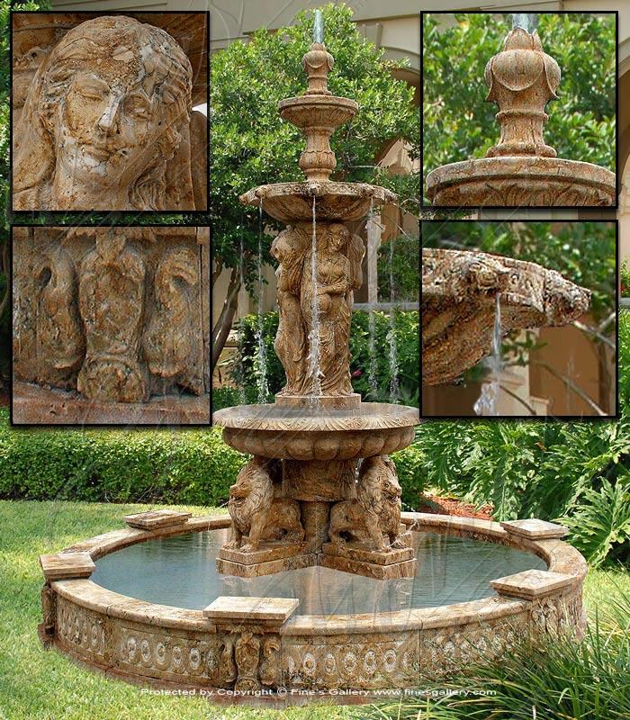 Antique Style Monumental Fountain