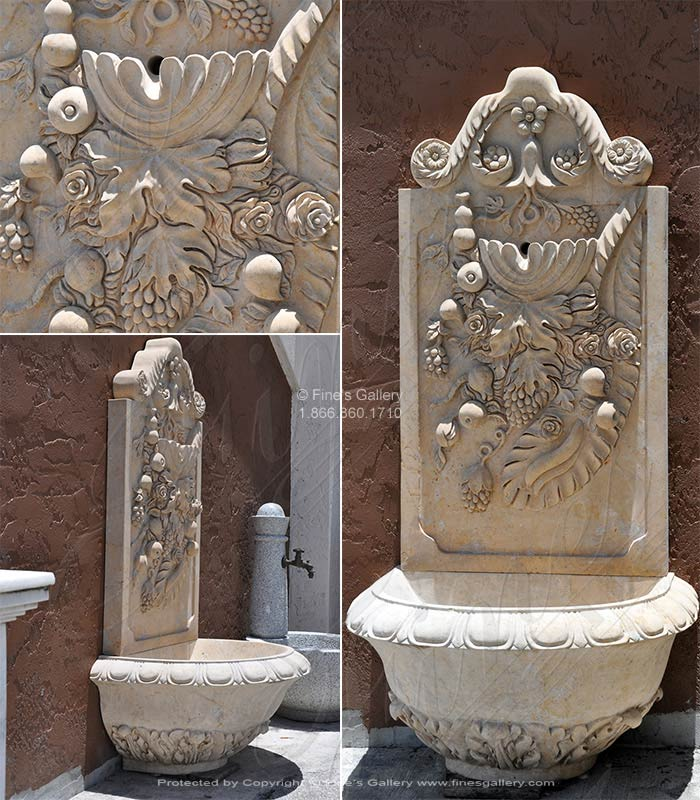 Harvest Fruit Marble Wall Fountain