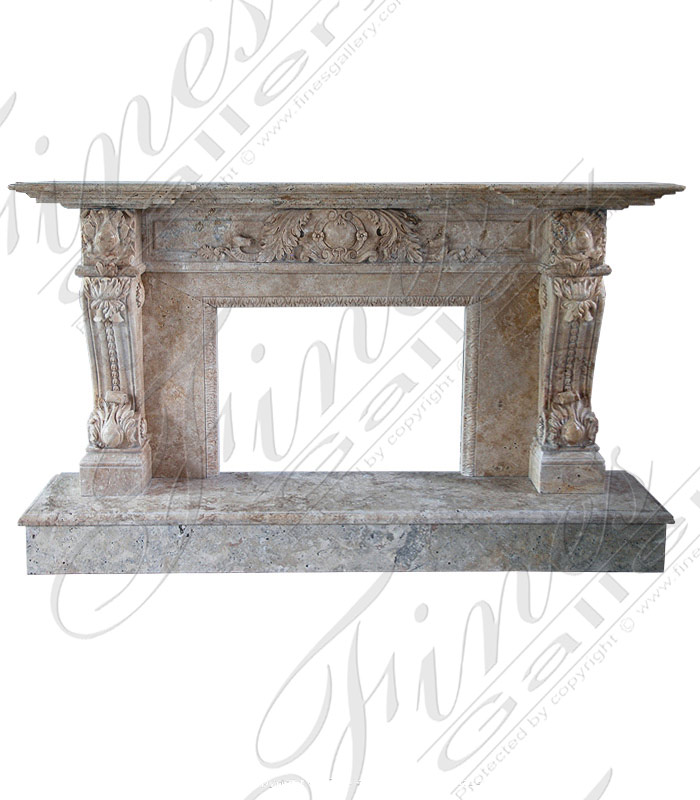 Antique Style Marble Fireplace Mantel