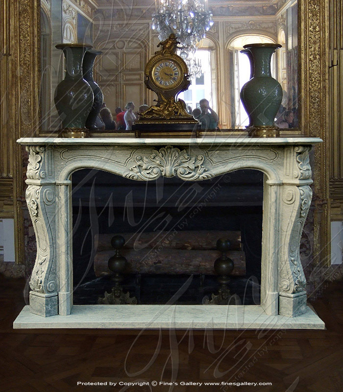 Elegant French-Style Marble Fireplace
