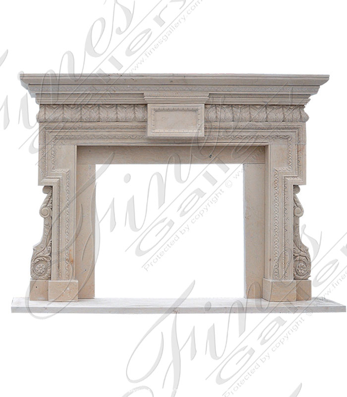 Cream Marble Fireplace