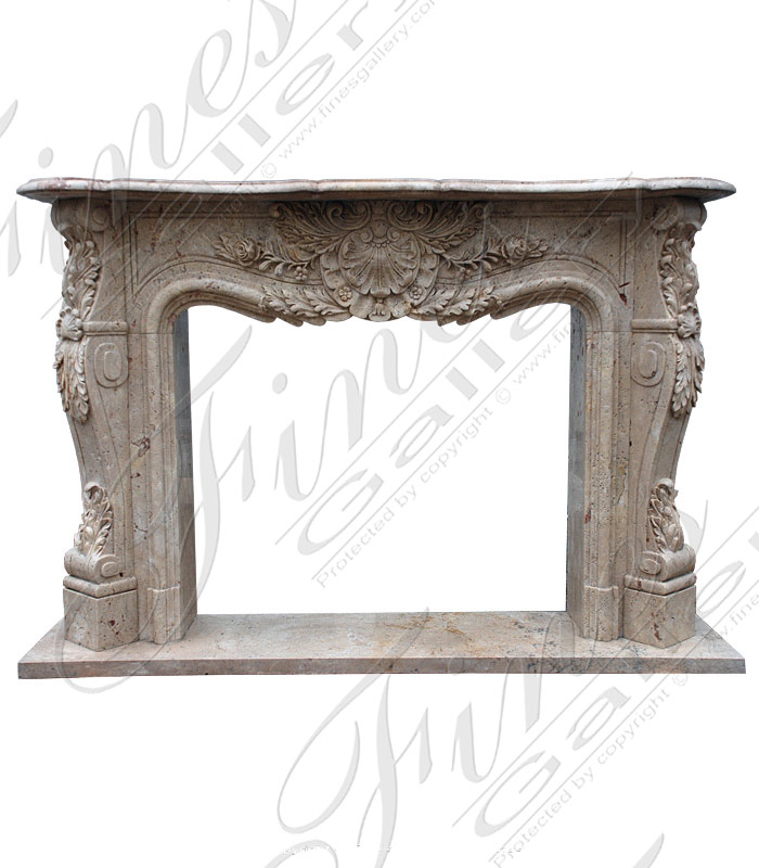 Floral French Marble Surround