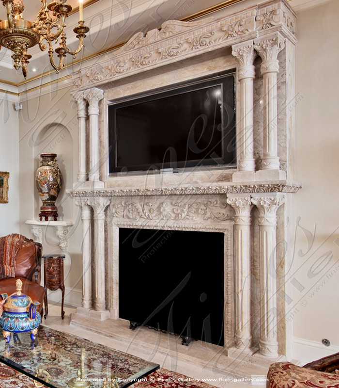 Ornate Marble Overmantel