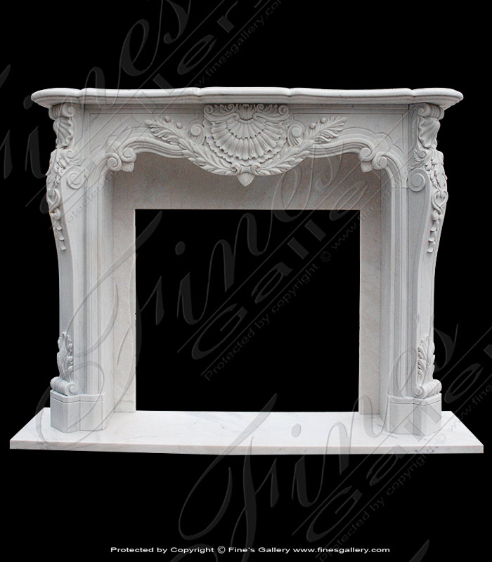 Ornate Marble Fireplace