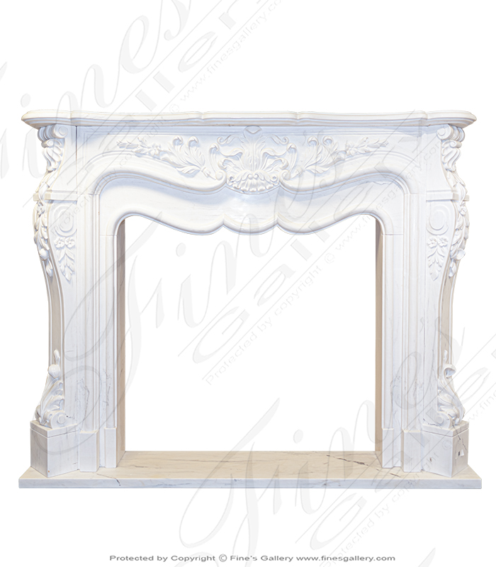 Oversized French Marble Fireplace
